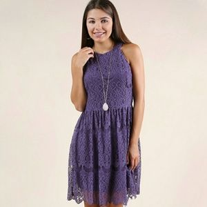 """Altar'd State """"Wonder With Me"""" purple lace dress"""